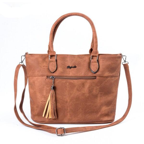 Double Zipper Shoulder Bag