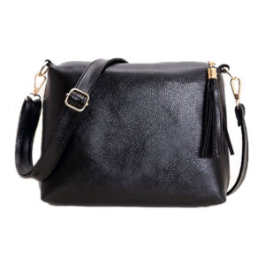 Soft leather fringe crossbody bag