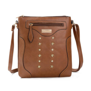 Double Layer Leather Messenger Bag