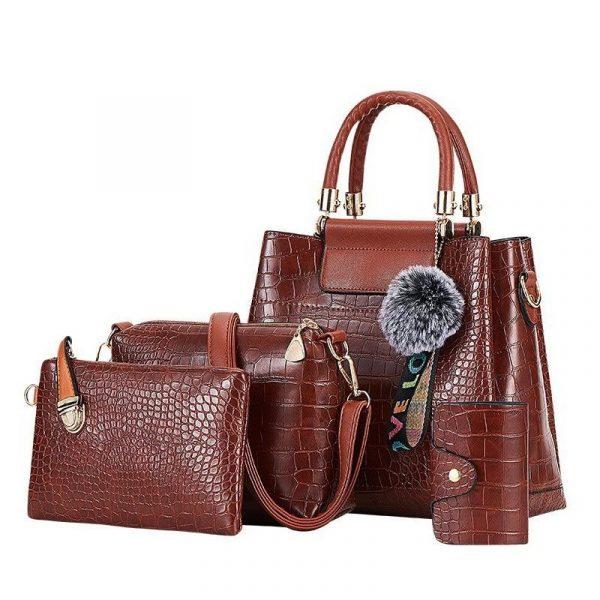 Luxury 4pc Crossbody Bag Set for Women