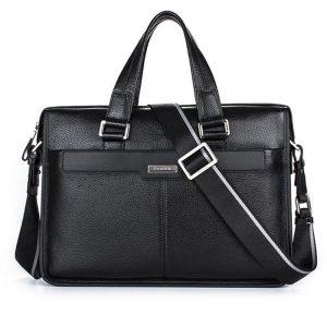 Leather Laptop Bag For Men Business Briefcase Genuine Leather Shoulder Bag